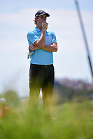 Thomas Pieters (BEL) looks over his tee shot on 13 during Friday's round 2 of the 117th U.S. Open, at Erin Hills, Erin, Wisconsin. 6/16/2017.<br /> Picture: Golffile | Ken Murray<br /> <br /> <br /> All photo usage must carry mandatory copyright credit (&copy; Golffile | Ken Murray)