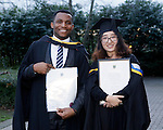REPRO FREE<br /> 21/01/2015<br /> David Idioh, Raheen, Limerick and Ying Guan, China, MA Community Music Irish World Academy of Music and Dance at the University of Limerick pictured as the University of Limerick continues three days of Winter conferring ceremonies which will see 1831 students conferring, including 74 PhDs. <br /> UL President, Professor Don Barry highlighted the increasing growth in demand for UL graduates by employers and the institution&rsquo;s position as Sunday Times University of the Year. <br /> Picture: Don Moloney / Press 22