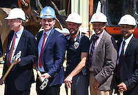 Washington, D.C. - Monday, April 24, 2016: Symbolic ground breaking ceremony for D.C. United's new stadium at Buzzards Point, Washington D.C.