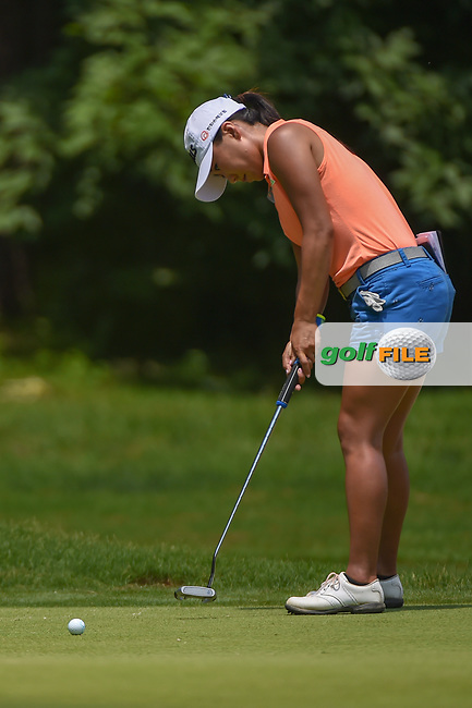 I.K. Kim (KOR) watches her putt on 1 during round 1 of the U.S. Women's Open Championship, Shoal Creek Country Club, at Birmingham, Alabama, USA. 5/31/2018.<br /> Picture: Golffile | Ken Murray<br /> <br /> All photo usage must carry mandatory copyright credit (© Golffile | Ken Murray)