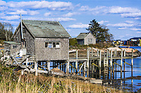 Lobster shed, Jonesport, Maine, USA