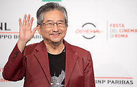 Il fumettista e scrittore giapponese Go Nagai posa durante un photocall per la presentazione del film &quot;Mazinga Z Infinity&quot; alla Festa del Cinema di Roma , 27 0ttobre 2017.<br /> Japanese cartoonist and writer and Go Nagai  poses for a photocall to present the movie &quot;Mazinga Z Infinity&quot;&quot; during the international Rome Film Festival at Rome's Auditorium, October 27, 2017.<br /> UPDATE IMAGES PRESS