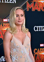 "LOS ANGELES, CA. March 04, 2019: Brie Larson at the world premiere of ""Captain Marvel"" at the El Capitan Theatre.<br /> Picture: Paul Smith/Featureflash"