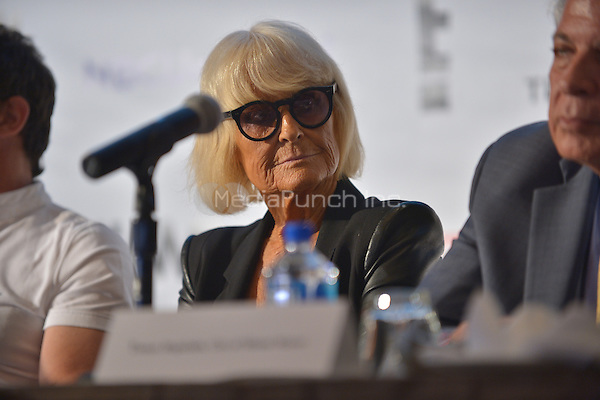 MIAMI, FL - JUNE 01: Barbara Hulanicki attends a press conference to announce Miami Fashion Week at Mandarin Oriental on June 1, 2016 in Miami, Florida Credit: MPI10 / MediaPunch