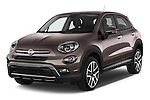 2016 Fiat 500X Trekking-Plus-4WD 5 Door SUV Angular Front stock photos of front three quarter view