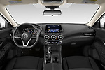 Stock photo of straight dashboard view of 2020 Nissan Sentra SV 4 Door Sedan Dashboard