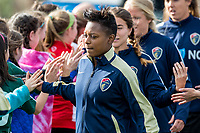 Boston, MA - Sunday May 07, 2017: Taylor Smith and fans prior to a regular season National Women's Soccer League (NWSL) match between the Boston Breakers and the North Carolina Courage at Jordan Field.