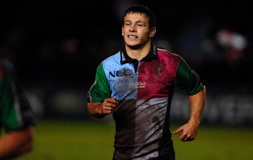 Photo: Richard Lane..NEC Harlequins v Bath Rugby. Guinness Premiership. 06/01/2007. .Quins' Danny Care.