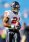 1 November 2009: Houston Texans' running back Ryan Moats warms up prior to a game against the Buffalo Bills at Ralph Wilson Stadium in Orchard Park, New York, United States of America. The Texans defeated the Bills 31-10. Mandatory Credit: Ed Wolfstein Photo