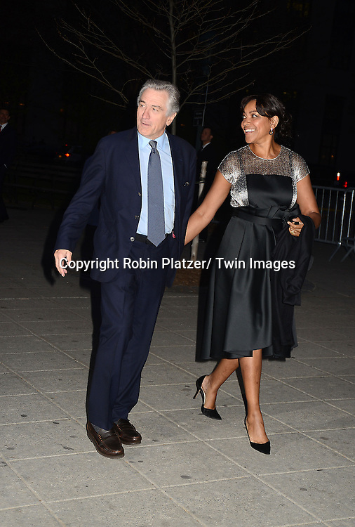 Robert De Niro and wife Grace Hightower the Vanity Fair Party for the 2013 Tribeca Film Festival on April 16, 2013 at State Suprme Courthouse in New York City.
