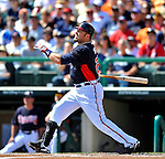 8 March 2011: Atlanta Braves outfielder Eric Hinske in action during a Spring Training game against the New York Yankees at Champion Park in Orlando, Florida. The Yankees edged out the Braves 5-4 in Grapefruit League action. Mandatory Credit: Ed Wolfstein Photo