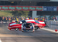 Sep 23, 2016; Madison, IL, USA; NHRA pro mod driver Jay Payne loses control as he crashes alongside Chuck Little during qualifying for the Midwest Nationals at Gateway Motorsports Park. Payne walked away from the accident. Mandatory Credit: Mark J. Rebilas-USA TODAY Sports