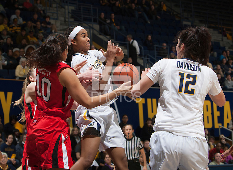 Berkeley, CA - January 3, 2015: California Golden Bears'  67-49 victory against Utah Utes during NCAA Women Basketball game at Haas Pavilion.