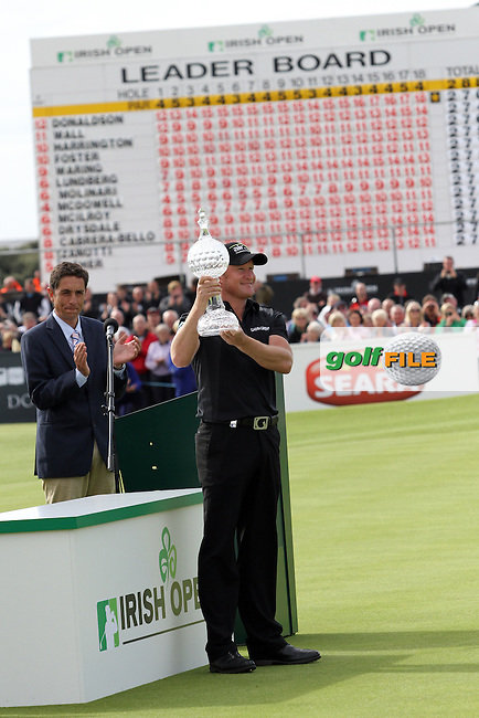 Jamie Donaldson (WAL) at the presentation after winning on Day 4 of the 2012 Irish Open at Royal Portrush Golf Club, Portrush, Co.Antrim, 1/7/12...(Photo Jenny Matthews/www.golffile.ie)