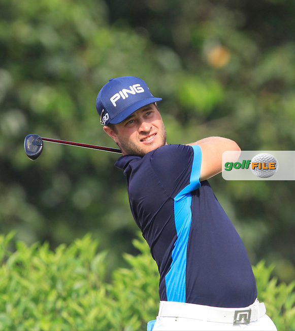 David Lingmerth (SWE) on the 7th tee during Round 4 of the CIMB Classic in the Kuala Lumpur Golf &amp; Country Club on Sunday 2nd November 2014.<br /> Picture:  Thos Caffrey / www.golffile.ie