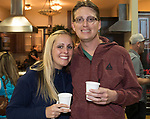 Melanie and Elric Billman during the Reno Bites Chef Showdown at Czyz's Appliance's gourmet kitchens in Reno, October 14, 2017.