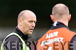 Fergie O'Loughlin Kilmoyley Manager v Ballyduff in the County Senior Hurling Final at Austin Stack Park on Sunday.