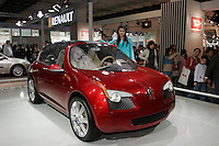 A Renault ZOE concept car is shown in The Beijing International Automobile Exhibition..19 Nov 2006