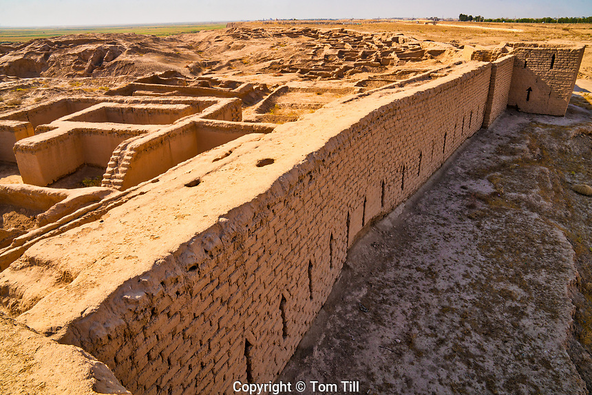 Kampir Tepe remains, Uzbekistan. Ancient Silk Road fortified city.