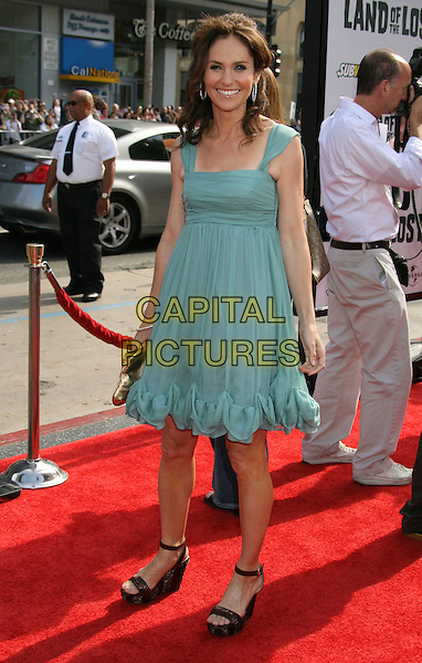 """AMY BRENNEMAN.""""Land Of The Lost"""" Los Angeles Premiere held at Grauman's Chinese Theatre, Hollywood, CA, USA..May 30th, 2009.full length sheer dress frills black open toe sandals shoes green platform .CAP/ADM/MJ.©Michael Jade/AdMedia/Capital Pictures."""