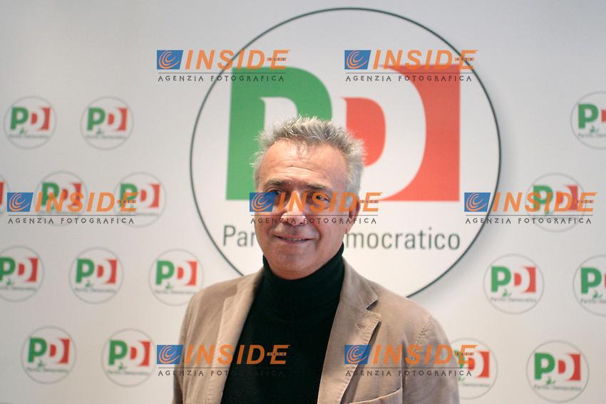 Massimo Ghini.Roma 13/02/2013 Sede del PD. Il Partito Democratico presenta le candidate donna per la Regione Lazio..Photo Samantha Zucchi Insidefoto