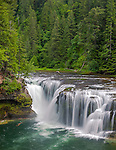 Gifford Pinchot National Forest, WA<br /> Lower Lewis River falls in summer