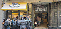 Pictured: Big Mouth sandwich shop.<br /> Re: Street photography, Athens, Greece. Thursday 27 February 2020
