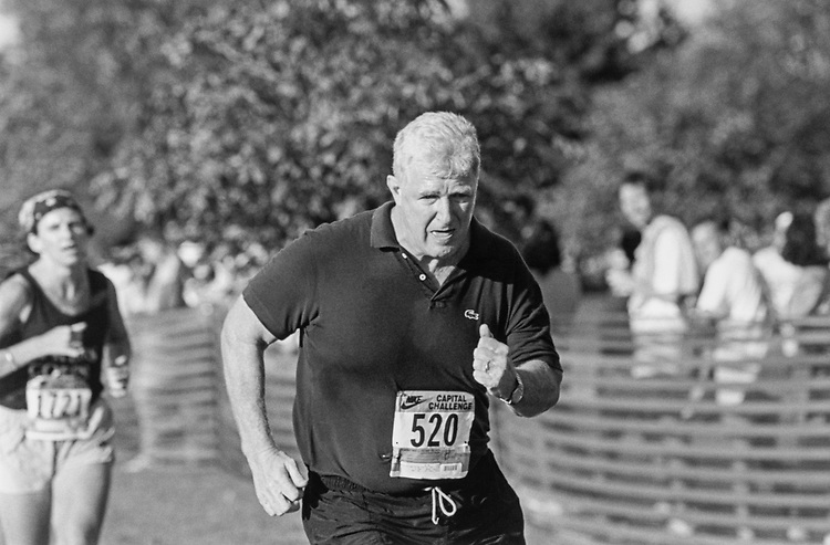 Rep. Jim Moran, D-Va., running during the Nike Capitol Challenge in 1996. (Photo by Rebecca Roth/CQ Roll Call)