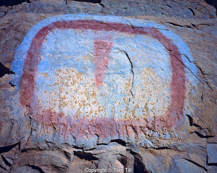 "The ""TV Screen"", Range Creek Wildlife Management Area, Utah   Ancient Fremont Culture pictograph"