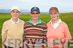 MASTERS: Playing in the Ardfert Quarry Ladies Master Classic at Tralee Golf Club on Sunday l-r: Maura McKenna, Karen Gearon and Claire Benner.
