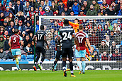 10th September 2017, Turf Moor, Burnley, England; EPL Premier League football, Burnley versus Crystal Palace; Nick Pope of Burnley punches the ball away to clear his box
