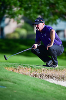 Rod Pampling (AUS) lines up his putt on 14 during the round 1 of the Dean &amp; Deluca Invitational, at The Colonial, Ft. Worth, Texas, USA. 5/25/2017.<br /> Picture: Golffile | Ken Murray<br /> <br /> <br /> All photo usage must carry mandatory copyright credit (&copy; Golffile | Ken Murray)