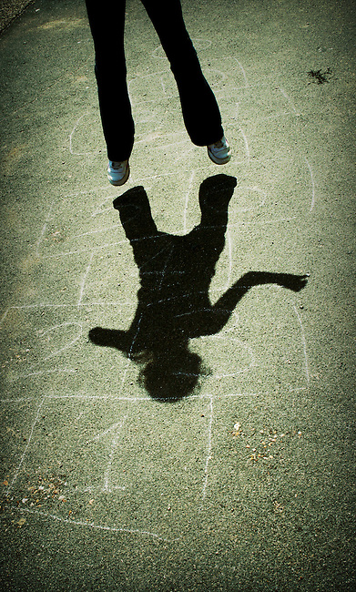 Hopscotch shadow, a moment in time