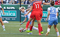 Portland, OR - Saturday August 19, 2017: Janine Van Wyk during a regular season National Women's Soccer League (NWSL) match between the Portland Thorns FC and the Houston Dash at Providence Park.