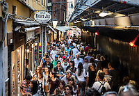 Crowded shopping street, Venice, Italy