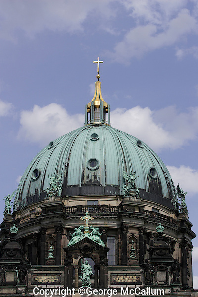 Cupola of  Berlin Cathedral or Berliner Dom in Berlin Mitte, Germany