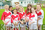 Pictured at the Ballyheigue Hurling Cúl Camp on Friday, from left: Caoimhe Flahive, Michelle O'Halloran, Melanie Dineen-Higgins, Maggie Lynch, Sarah Power, Leanna Roche, Lauren Glennon and Lisa Kearney..