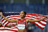 TORONTO, CANADÁ, 21.07.2015 - PAN-ATLETISMO - Americana Queen Harrison medalha de ouro nos 100 metros com barreira no atletismo nos Jogos Panamericanos na cidade de Toronto no Canadá, nesta terça-feira, 21 (Foto: Vanessa Carvalho/Brazil Photo Press)
