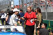25th March 2018, Melbourne Grand Prix Circuit, Melbourne, Australia; Melbourne Formula One Grand Prix, race day; Sahara Force India; Esteban Ocon