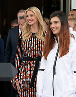 Ivanka Trump attends the ceremony where United States President Donald J. Trump hosts a celebration for Team USA at the White House in Washington, DC on Friday, April 27, 2018.<br /> Credit: Ron Sachs / CNP /MediaPunch