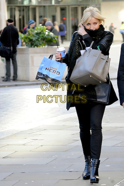 LONDON ENGLAND - 15 NOVEMBER - Michelle Collins spotted out and about on 15th November 2013 in in London, England, UK.<br /> CAP/IA<br /> &copy;Ian Allis/Capital Pictures