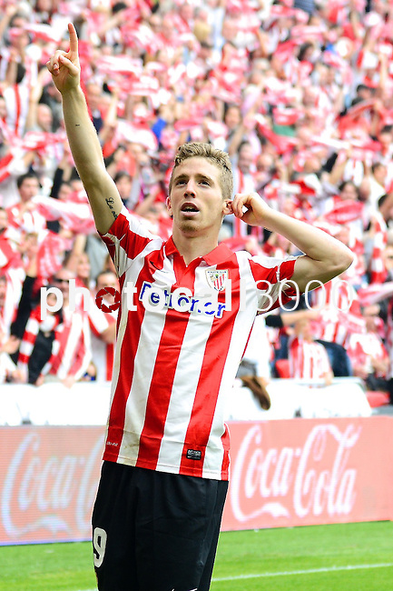 Football macht during La Liga BBVA.<br /> Athletic Club - Real Sociedad<br /> iker muniain