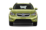Car photography straight front view of a2015 Subaru XV Crosstrek Hybrid 5 Door SUV Front View