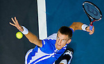 Jarkko Nieminen of Finland in action during the Day 8 of the PTT Thailand Open at Impact Arena on October 2, 2010 in Bangkok, Thailand. Photo by Victor Fraile / The Power of Sport Images