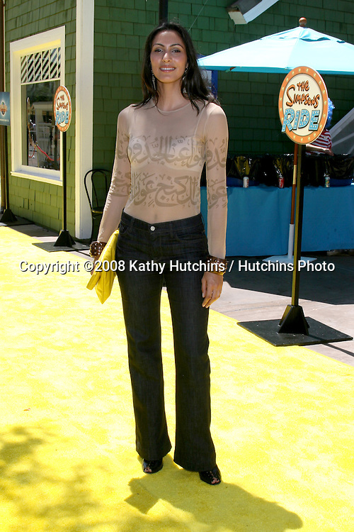 "Raya Meddine.""The Simpson's Ride"" Grand Opening.Universal Studios Theme Park.Los Angeles, CA.May 17, 2008.©2008 Kathy Hutchins / Hutchins Photo ."
