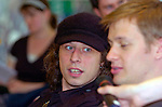 Stuart Cable the former Stereophonics drummer pictured at a Millennium Stadium press conference in 2006.. He has been found dead at his home in South Wales..