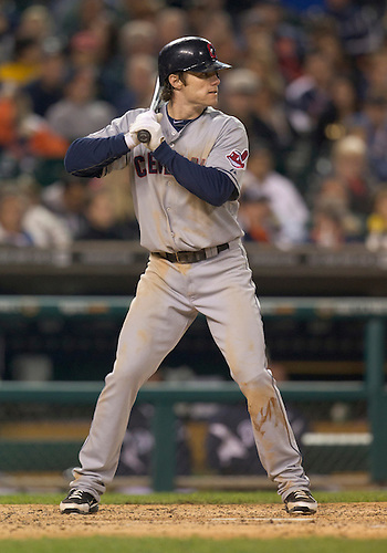 September 27, 2011:  Cleveland Indians shortstop Jason Donald (#16) at bat during MLB game action between the Cleveland Indians and the Detroit Tigers at Comerica Park in Detroit, Michigan.  The Tigers defeated the Indians 9-6.