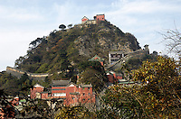 Golden Palace Hall, on top of the Tian Zhu Peak of Wudang Mountain, the Taoist Holy Land in Hubei, China, was built in 1416, the Ming Dynasty. The ancient building complex in the Wudang Mountain was listed as the World Culture Heritage by UNESCO in 1994..24 Oct 2007