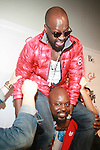 Wyclef Jean and Sedeck Jean-Arrivals-Boy Meets Girl Forever Young Fashion Show Held at Style 360, NY  9/12/12