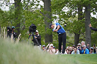 Brooks Koepka (USA) on the 18th tee during the final round at the PGA Championship 2019, Beth Page Black, New York, USA. 20/05/2019.<br /> Picture Fran Caffrey / Golffile.ie<br /> <br /> All photo usage must carry mandatory copyright credit (© Golffile | Fran Caffrey)